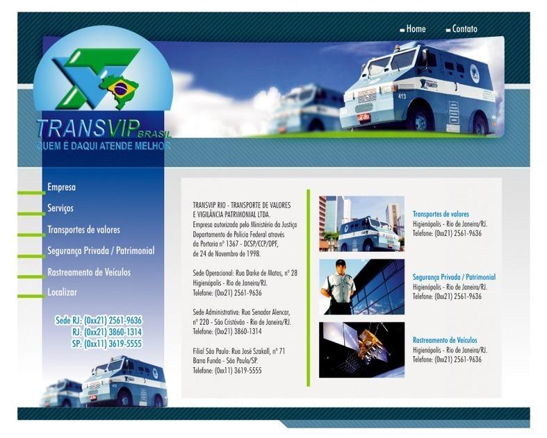 Criação de site para empresa Transvip