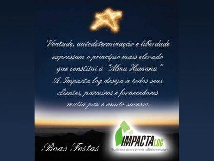 Criação de cartão de boas festas para empresa Impactalog