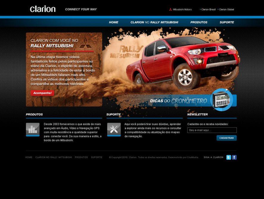 Criação de sites e peças de marketing para Clarion Brasil
