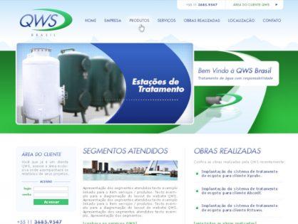 Criação de sites para empresa de engenharia QWS