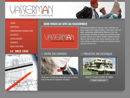 Sites para empresas de engenharia hospitalar