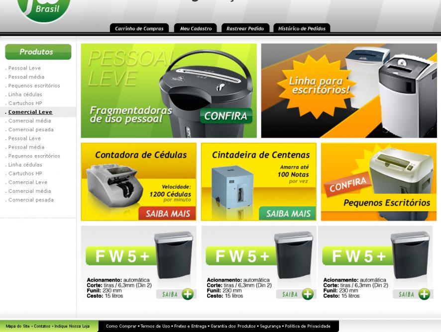 FW Brasil | Criação de Loja Virtual de Eletrônicos da Frys Eletronics