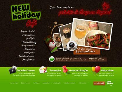 New Holiday Café | Criação de site e sistema de cardápio online